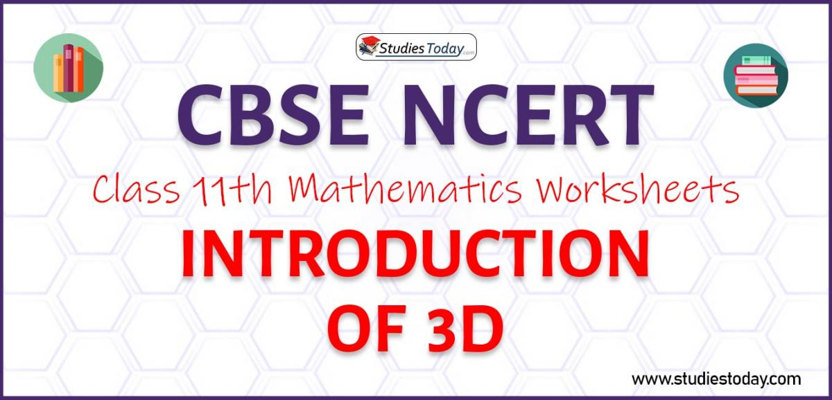 CBSE NCERT Class 11 Introduction of 3D Worksheets