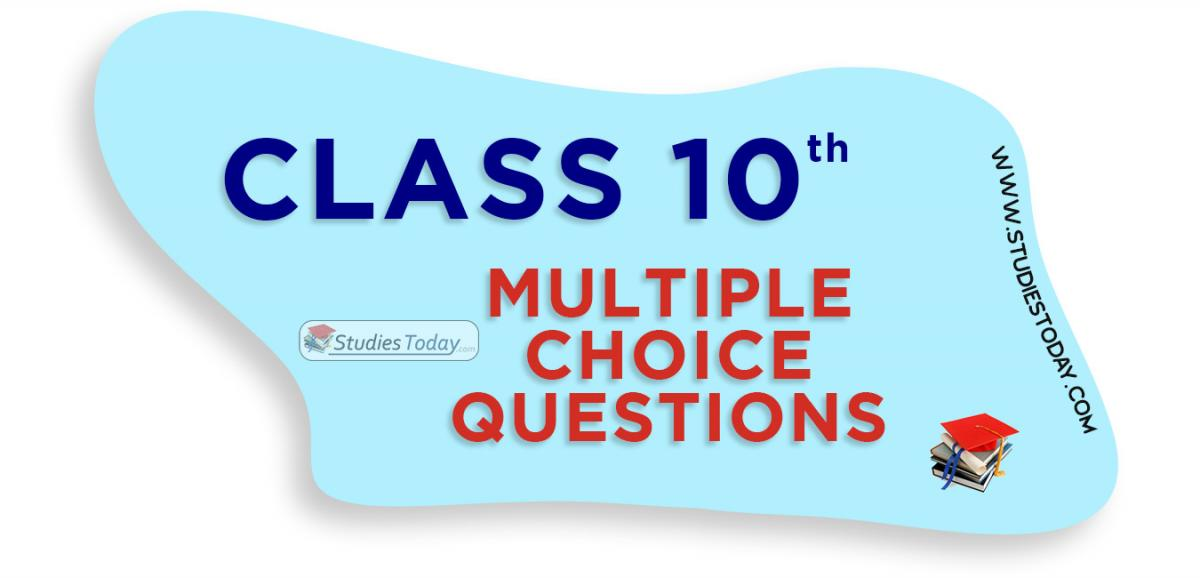 Class 10 Multiple Choice Questions (MCQs)