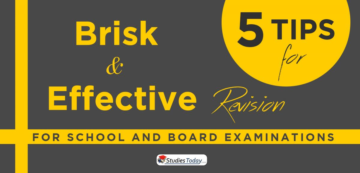 Five Tips for Brisk and Effective Revision for School and Board Examinations