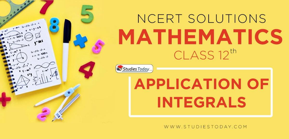 NCERT Solution Class 12 Application Of Integrals Mathematics