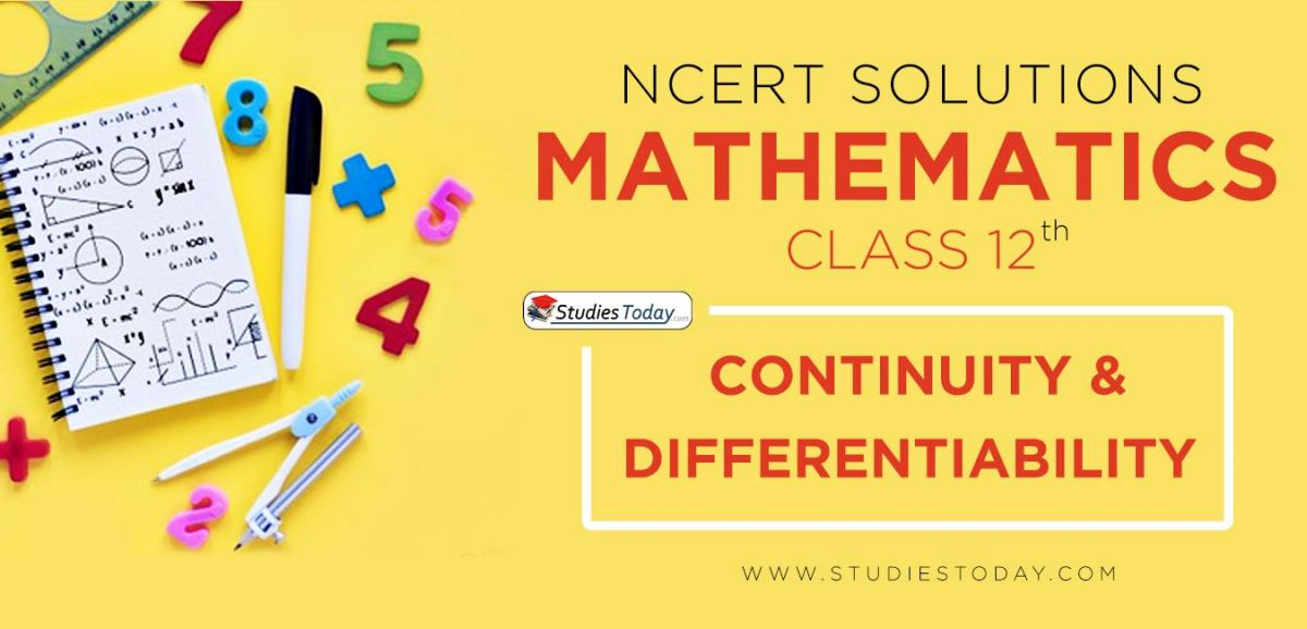 NCERT Solution Class 12 Continuity And Differentiability Mathematics