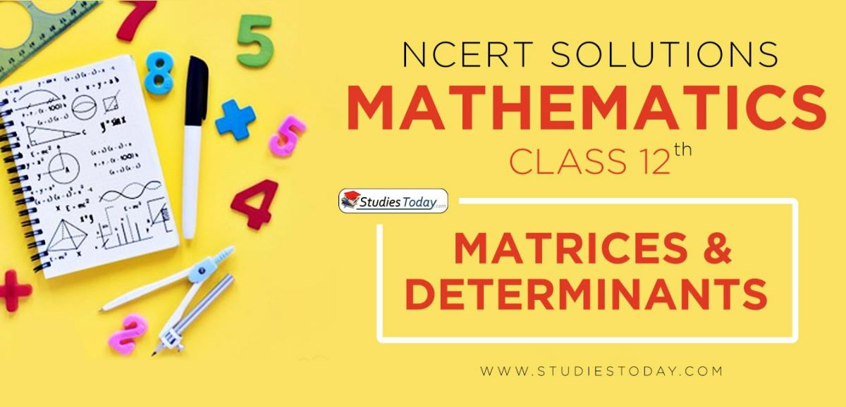 NCERT Solution Class 12 Matrices and Determinants Mathematics