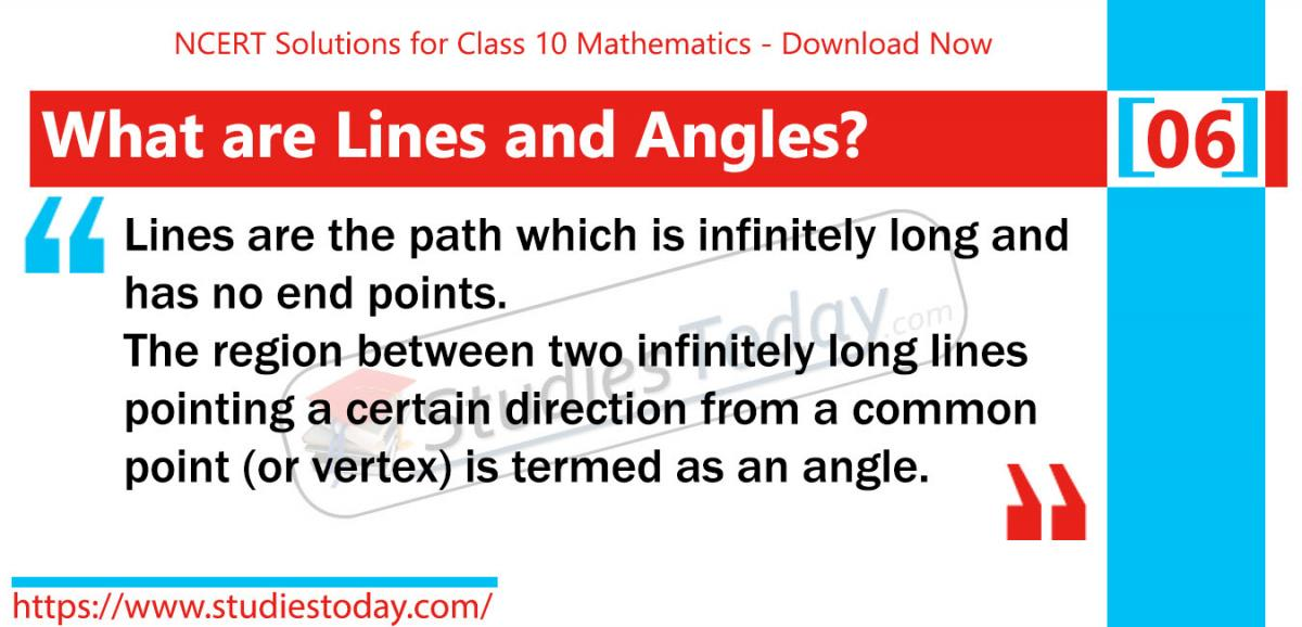 NCERT Solutions for Class 9 Lines and Angles