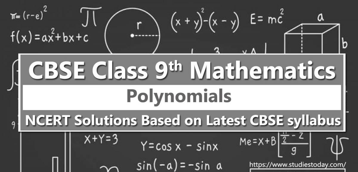 NCERT Solutions for Class 9 Polynomials