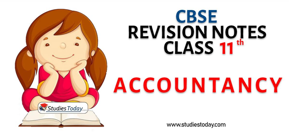 Revision Notes for CBSE Class 11 Accountancy