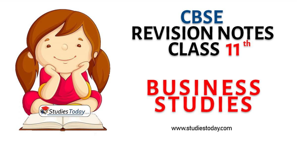 Revision Notes for CBSE Class 11 Business Studies