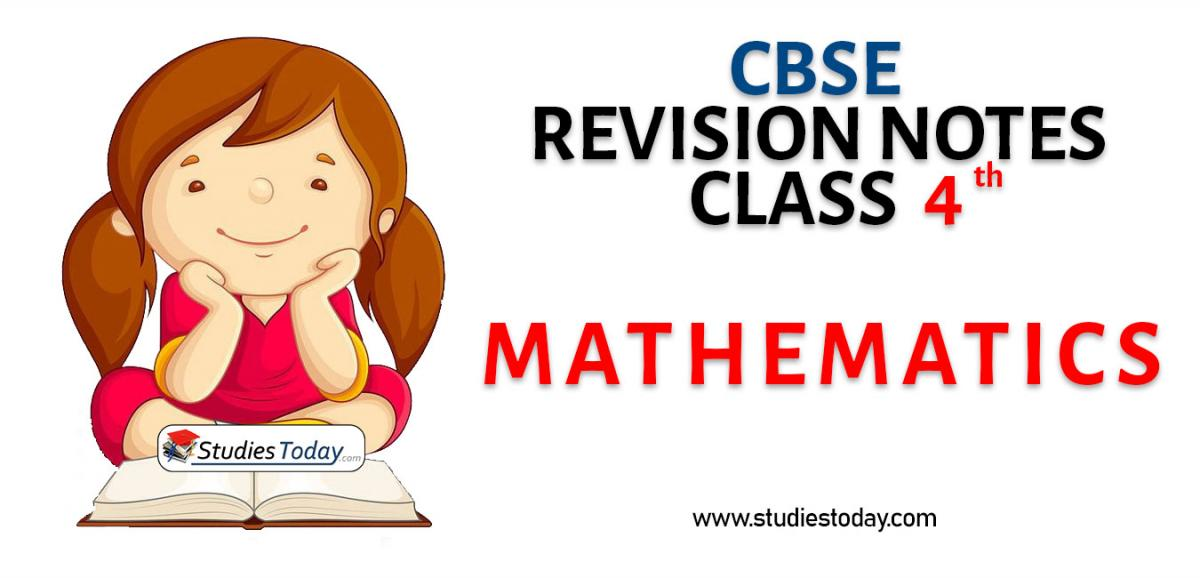 Revision Notes for CBSE Class 4 Mathematics