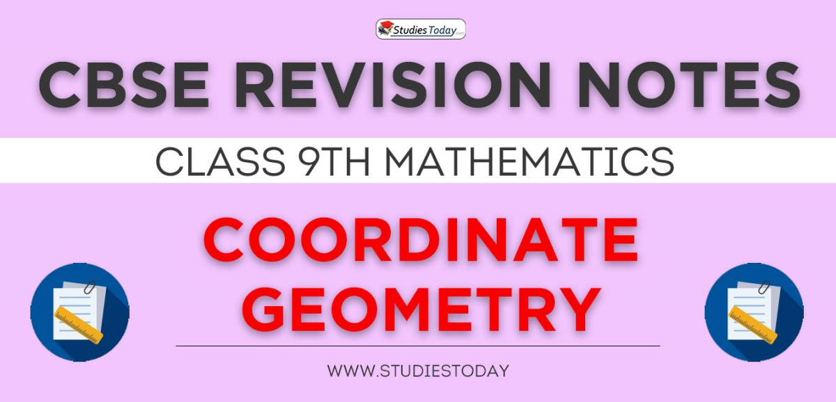 Revision Notes for CBSE Class 9 Coordinate Geometry
