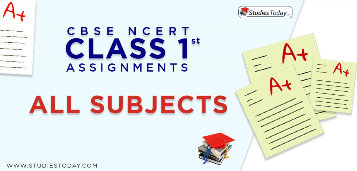 CBSE NCERT Assignments for Class 1 all subjects