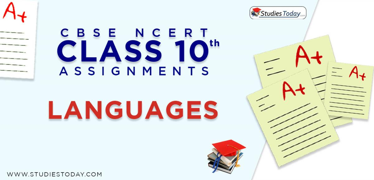 CBSE NCERT Assignments for Class 10 Languages