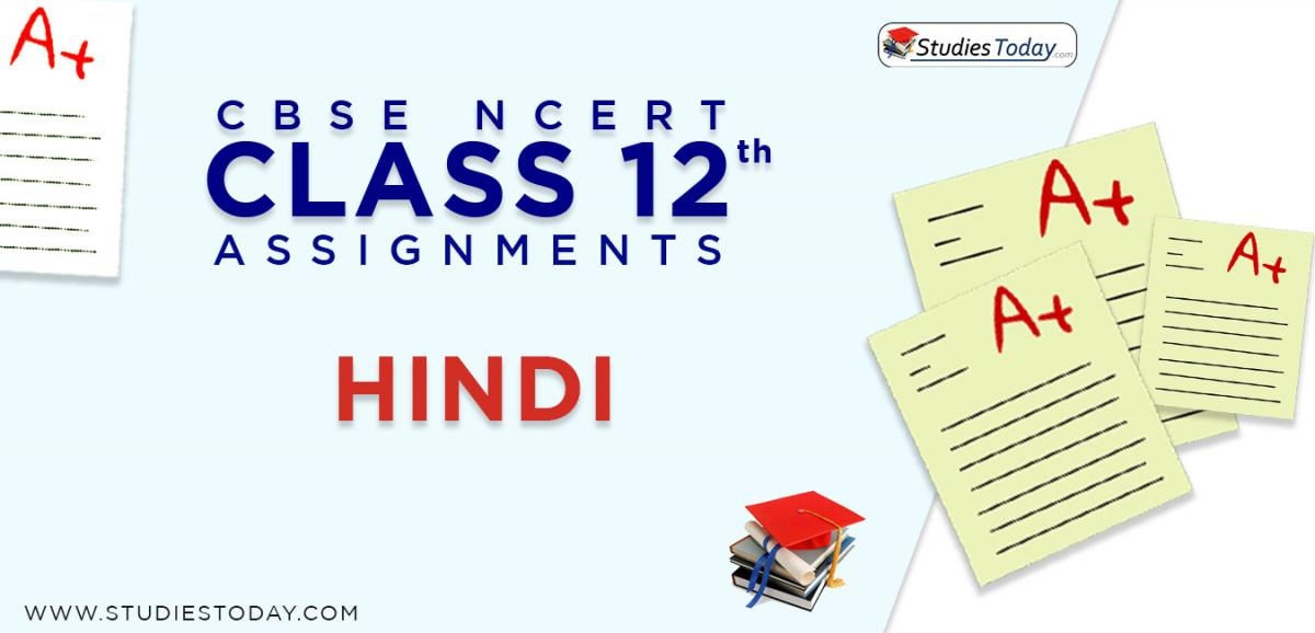 CBSE NCERT Assignments for Class 12 Hindi