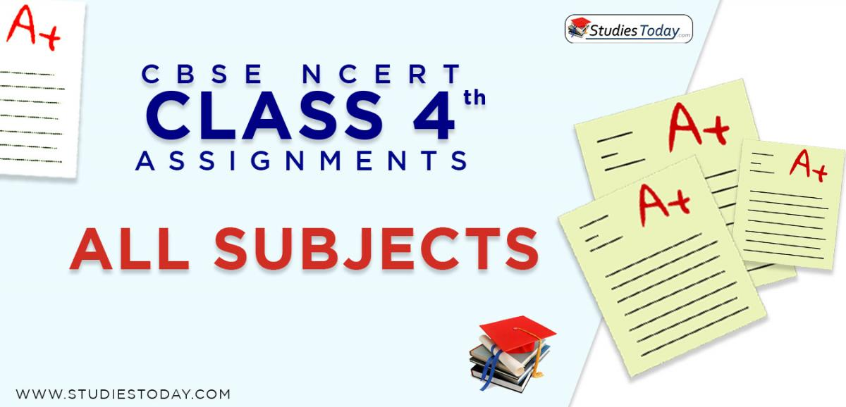 CBSE NCERT Assignments for Class 4 all subjects