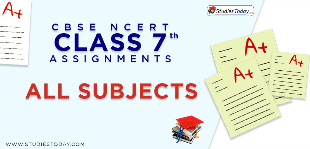 CBSE NCERT Assignments for Class 7 all subjects