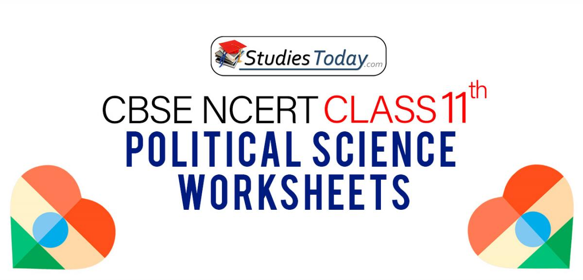 CBSE NCERT Class 11 Political Science Worksheets