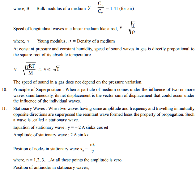 NEET UG Physics Ocsillations and Waves MCQs, Multiple Choice