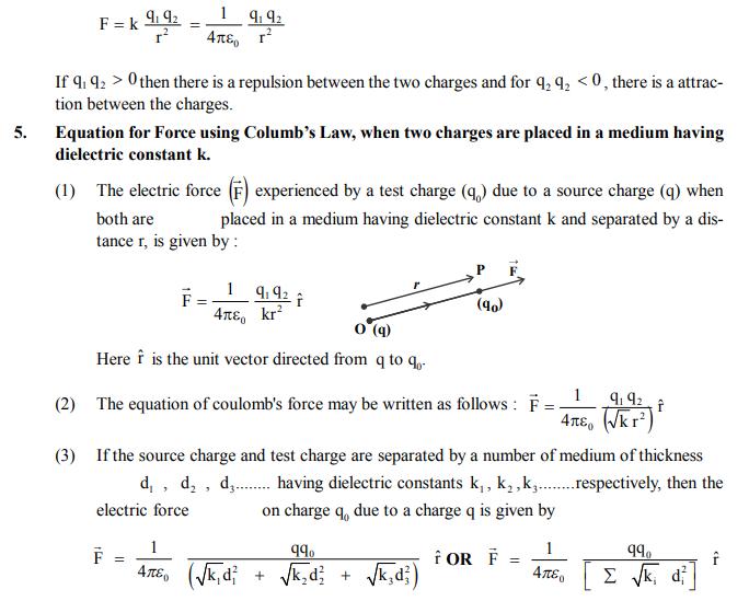 NEET UG Physics Electrostatics MCQs, Multiple Choice Questions for