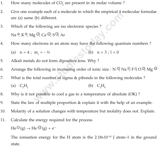 class_11_Chemistry_Question_ Paper_2