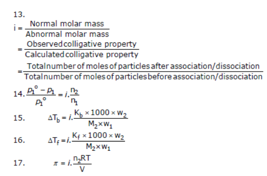 CBSE Class 12 Chemistry - Solutions Chapter Notes Concepts for
