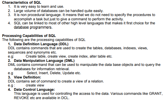 CBSE Class 12 Computer Science - Database And Sql Concepts