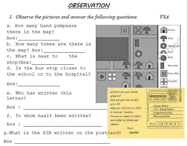 CBSE Class 3 EVS Sample Paper Set F
