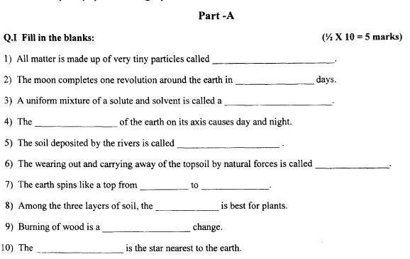 CBSE Class 4 EVS Question Paper Set B