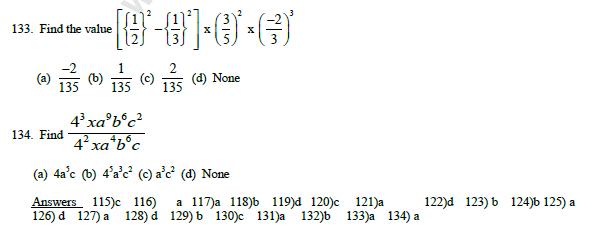 CBSE Class 7 Mathematics MCQs Exponents & powers, Multiple Choice