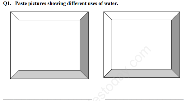 CBSE Class 1 EVS Food and Water Assignment