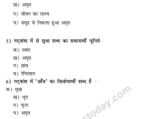 CBSE Class 9 Hindi Conventions MCQs-1