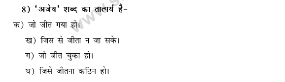 CBSE Class 9 Hindi Conventions MCQs-10