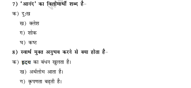 CBSE Class 9 Hindi Conventions MCQs-14