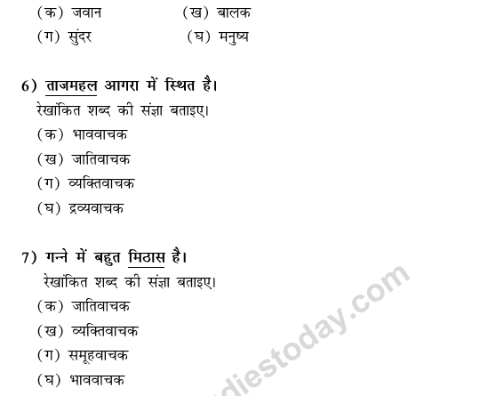 CBSE Class 9 Hindi Conventions MCQs-22