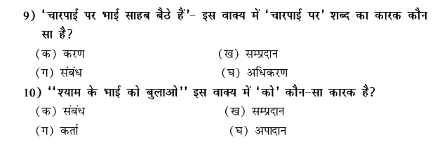 CBSE Class 9 Hindi Conventions MCQs-27