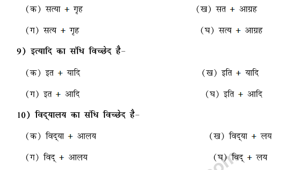 CBSE Class 9 Hindi Conventions MCQs-31