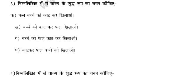 CBSE Class 9 Hindi Conventions MCQs-34