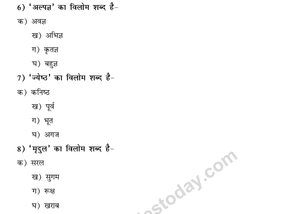 CBSE Class 9 Hindi Conventions MCQs-43