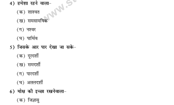 CBSE Class 9 Hindi Conventions MCQs-47
