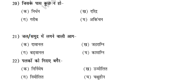 CBSE Class 9 Hindi Conventions MCQs-51