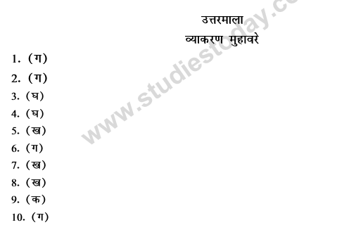 CBSE Class 9 Hindi Conventions MCQs-Ans;
