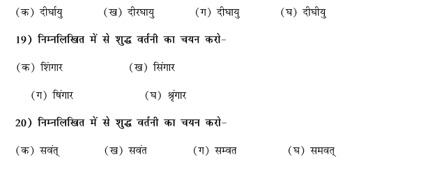 CBSE Class 9 Hindi Vyakaran Shabd Gyan Vartani MCQs-5