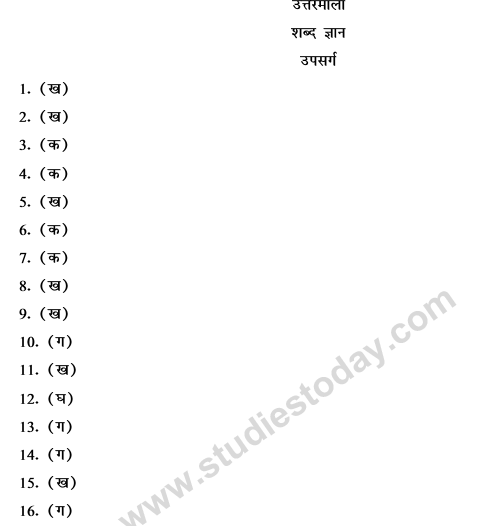 CBSE Class 9 Hindi Vyakaran-2