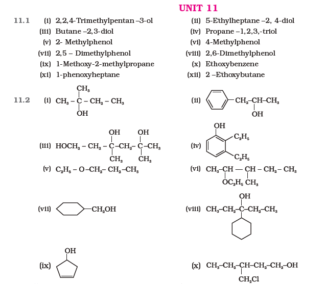 NCERT Class 12 Chemistry Answers and Solutions