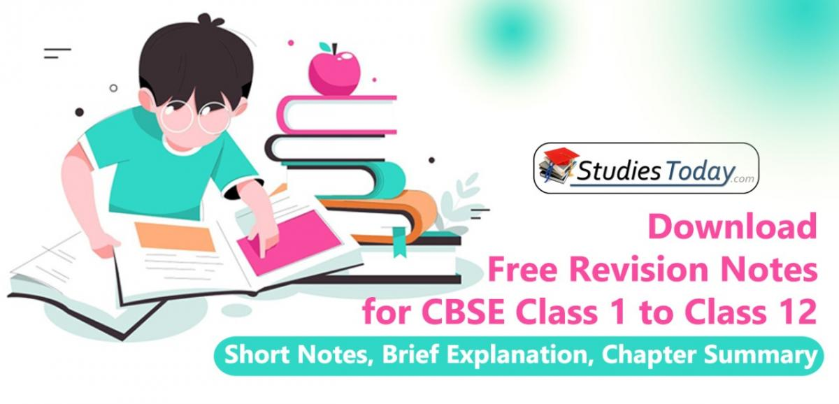 Concepts and Revision notes for Class 1 to Class 12