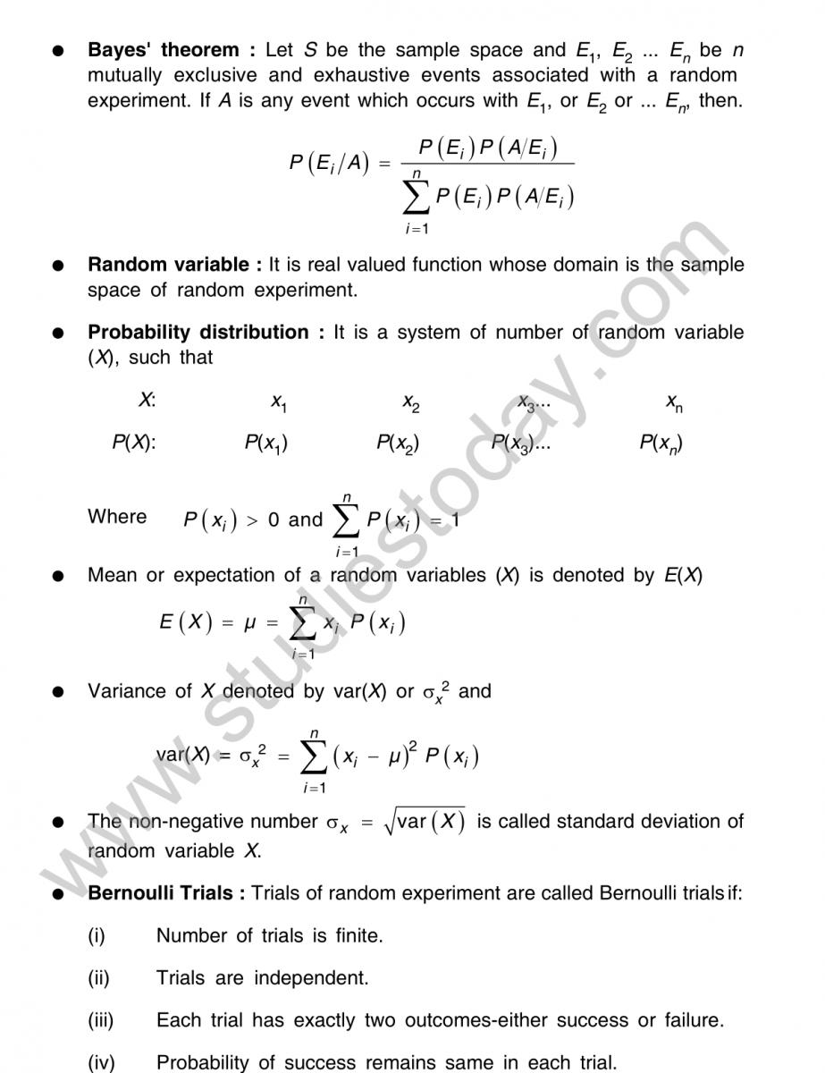 CBSE Class 25 Mathematics Probability Worksheet Set A Within Probability Worksheet High School