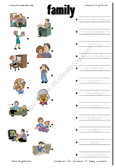 Cbse Class 1 Evs My Home And My Family Worksheet Practice Worksheet For Environmental Studies