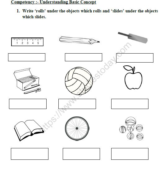 Cbse Class 1 Maths Shapes And Space Worksheet Set D Practice Worksheet For Mathematics