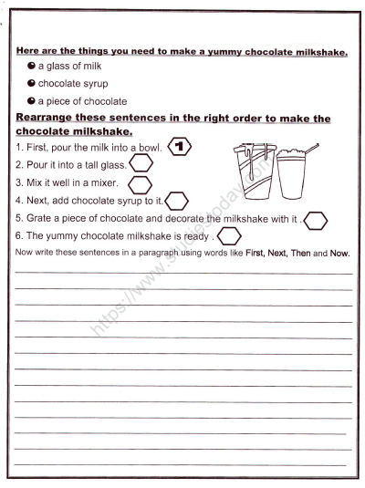 CBSE Class 2 English Practice Creative Writing Worksheet Set B Practice  Worksheet For English