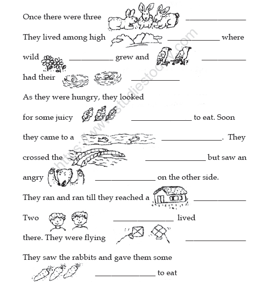 CBSE Class 2 English Vocabulary Worksheet Practice Worksheet For English