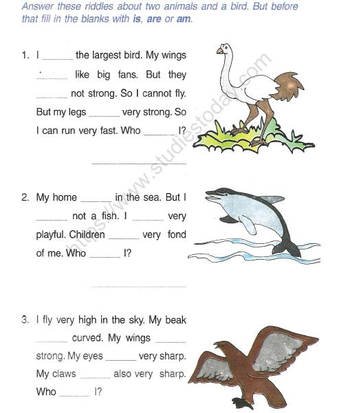 CBSE Class 2 English Grammar Concept Worksheet Practice Worksheet For  English