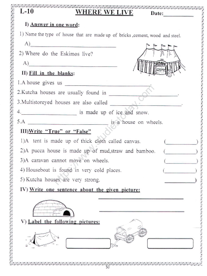 Cbse Class 2 Evs Practice Where We Live Worksheet Practice Worksheet For Environmental Studies An exciting craft activity where your children learn about where they live in relation to planet earth. cbse class 2 evs practice where we live
