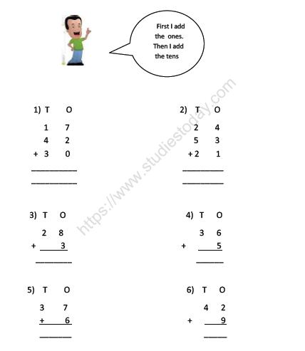 Cbse Class 2 Maths Tens Ones Worksheet Practice Worksheet For Mathematics